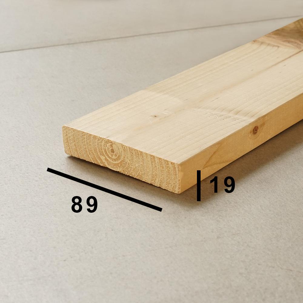 1x4(ワンバイフォー)木材の断面サイズ
